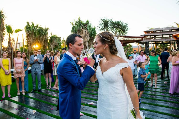 fotografia de boda en murcia de boda civil al aire libre